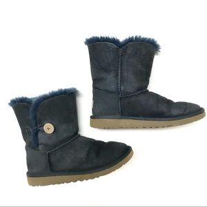Ugg girls Bailey button boots blue
